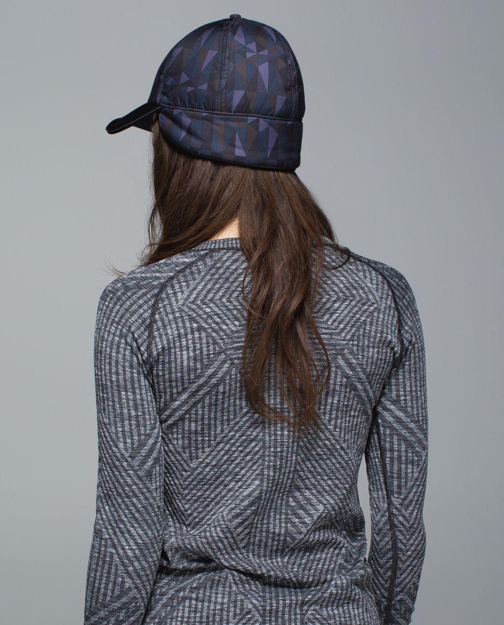Lululemon Fluffed Up Run Hat - Stained Glass Love Nightfall Black / Black