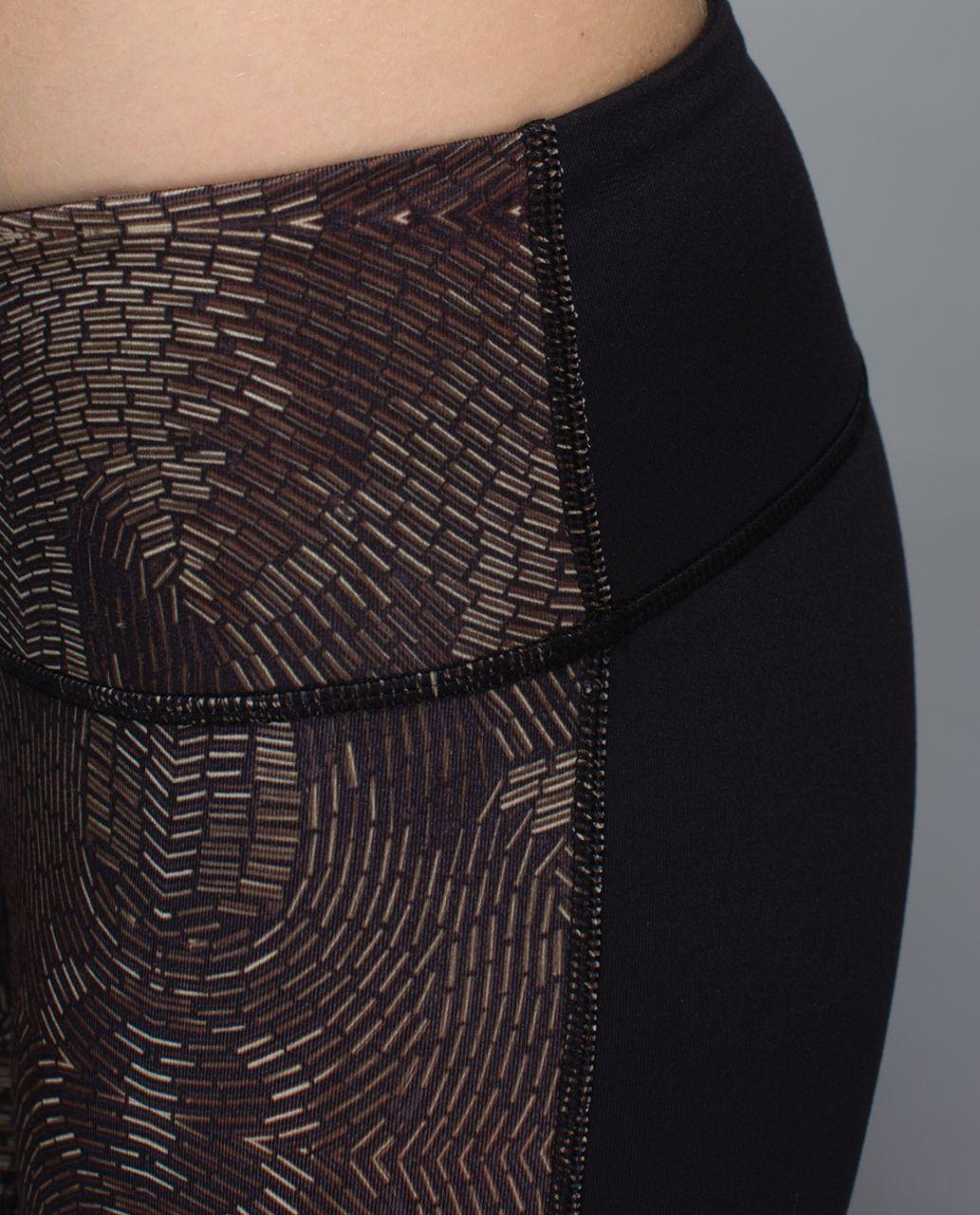 Lululemon Wunder Under Pant *Full-On Luon - Golden Godess Cashew Multi / Black