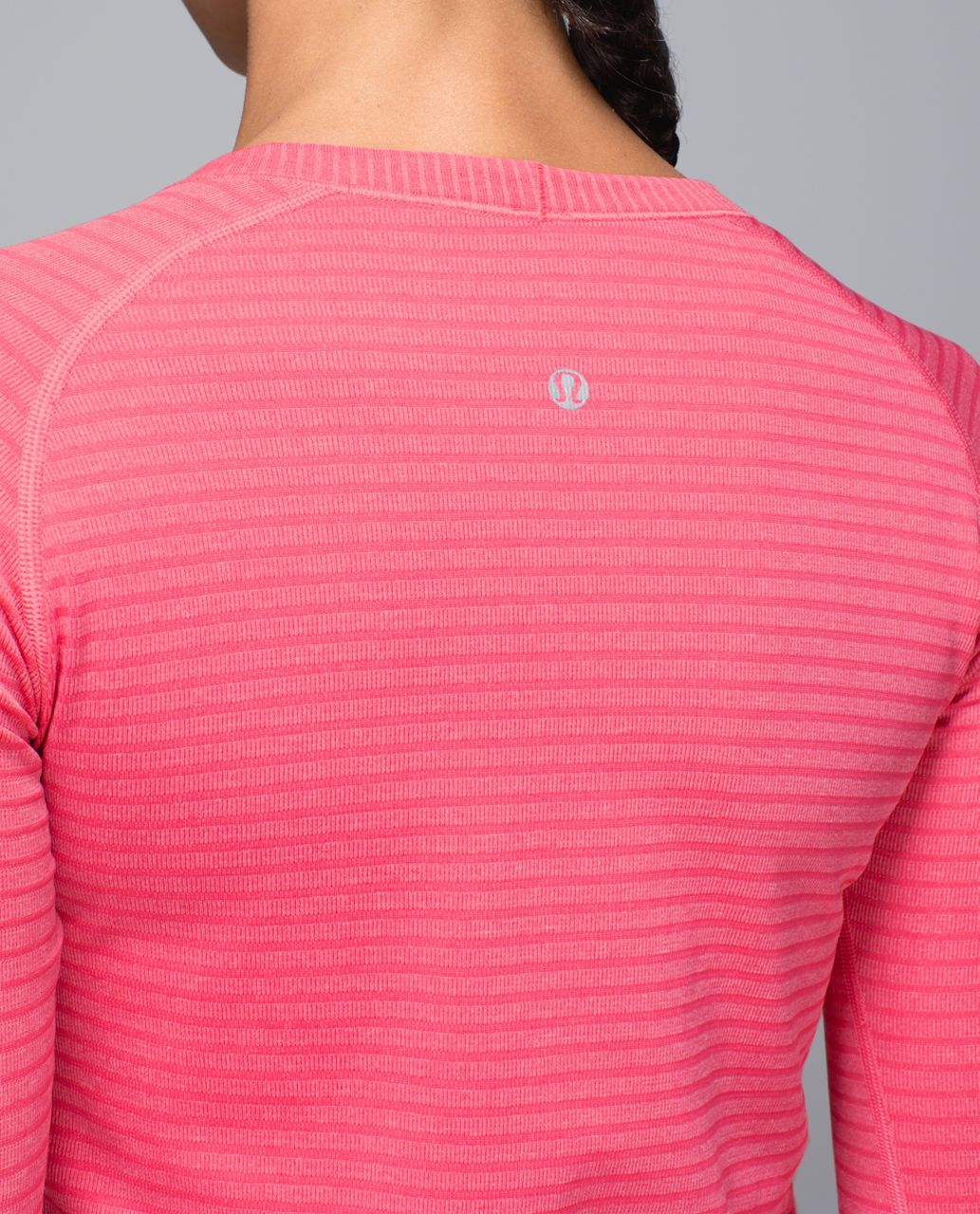 Lululemon Run:  Swiftly Tech Long Sleeve Crew - Rugby Stripe Tonal Heathered Boom Juice