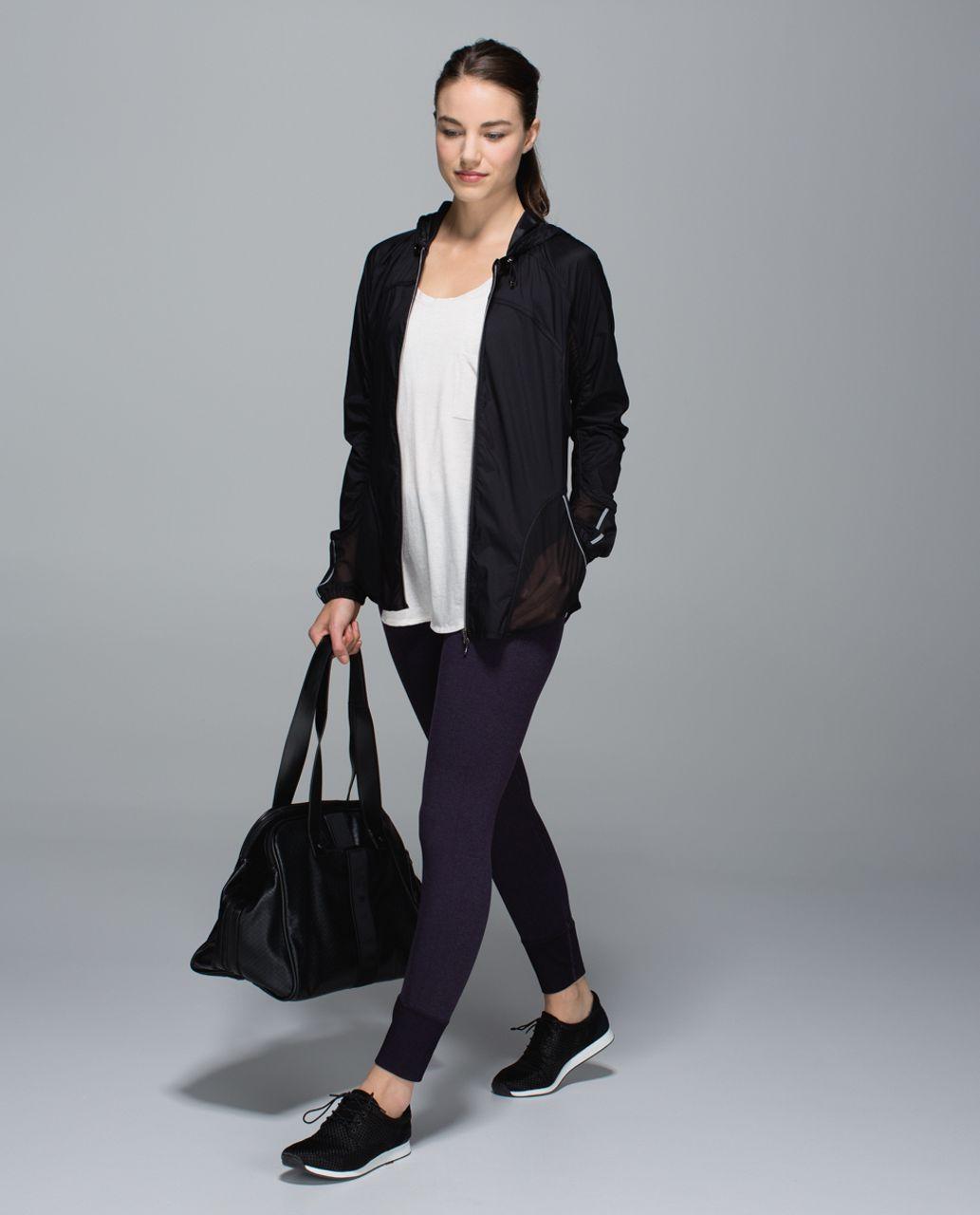 Lululemon Ebb To Street Pant - Heathered Black Grape