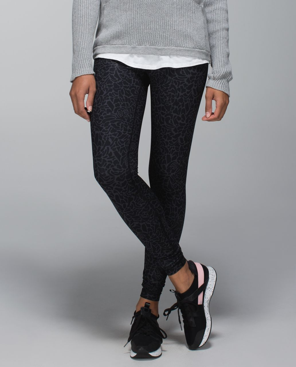 Lululemon Wunder Under Pant *Full-On Luxtreme (Roll Down) - Petal Camo Printed Black Deep Coal