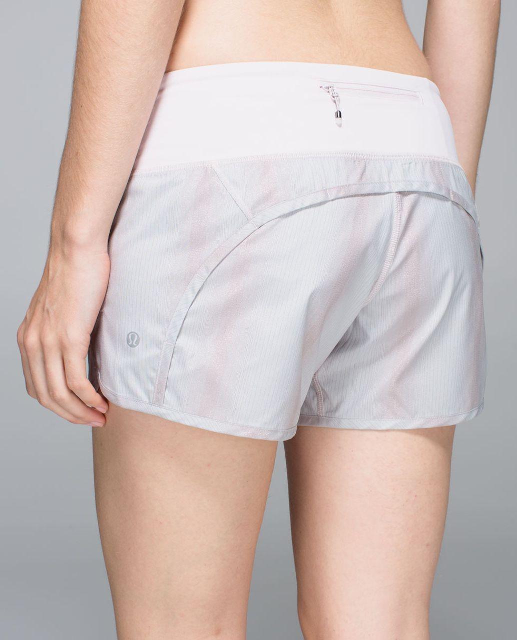 Lululemon Run Times Short *2-way Stretch - Sparkle Swift Heathered Silver Spoon Neutral Blush / Neutral Blush