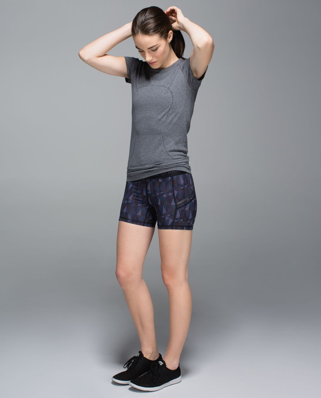 Lululemon What The Sport Short *Full-On Luxtreme - Stained Glass Love Nightfall Black