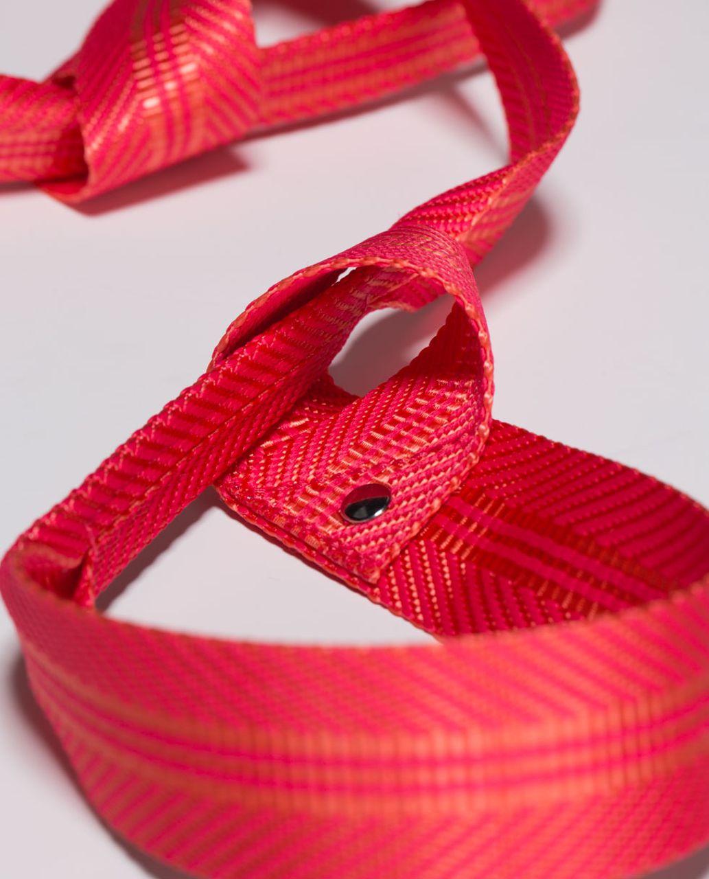 Lululemon Loop It Up Mat Strap - Plum Peach / Atomic Red