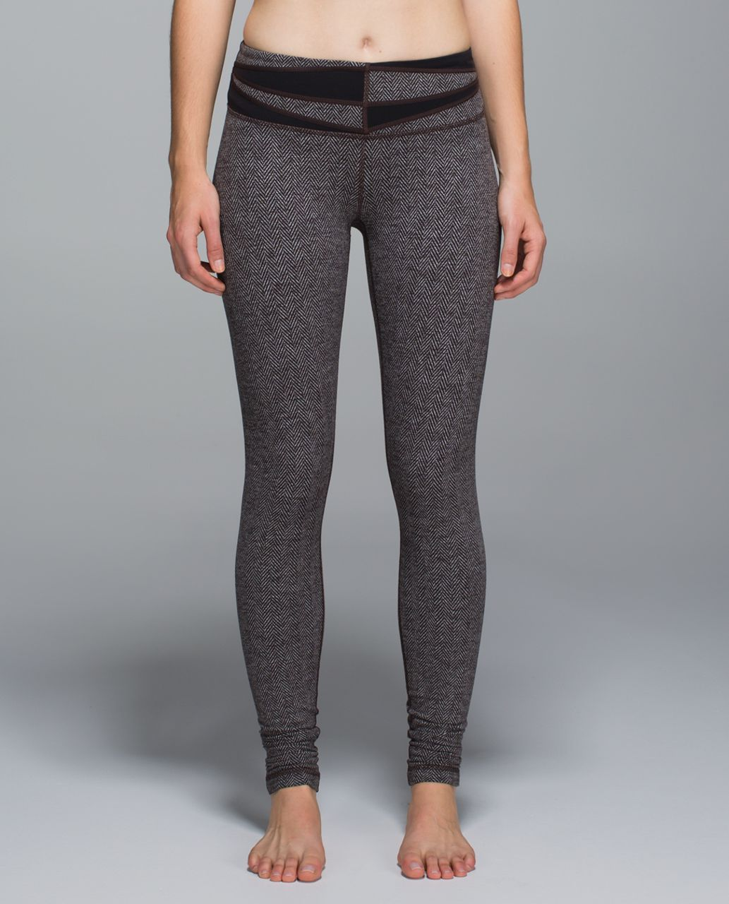 Lululemon Wunder Under Pant - Giant Herringbone Black Heathered Black / Wi14 Quilt 2
