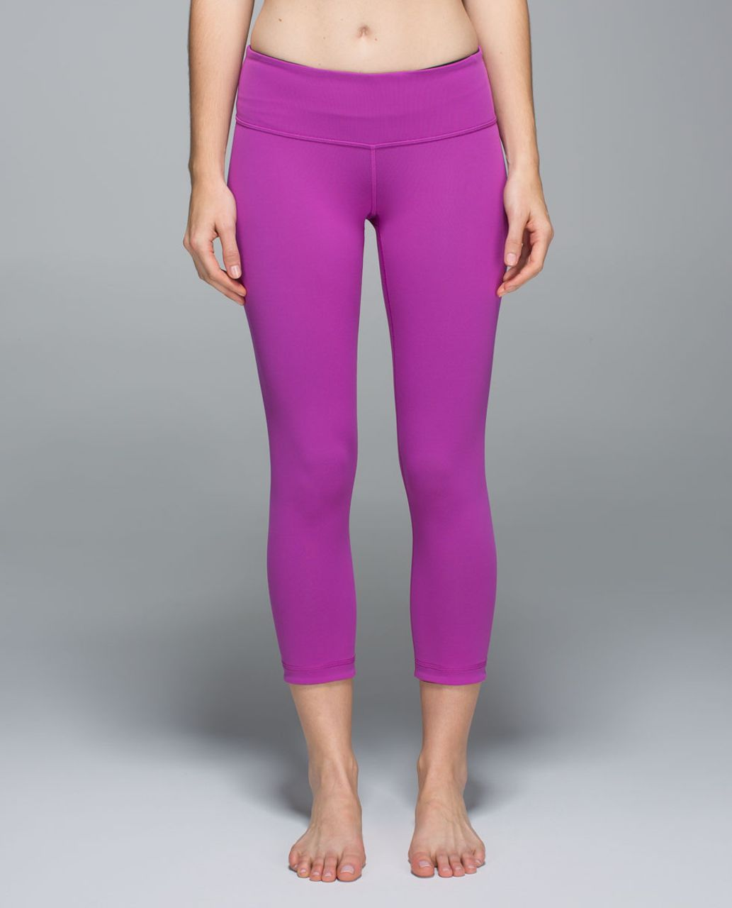 Lululemon Wunder Under Crop II (Reversible) - Black /  Ultra Violet