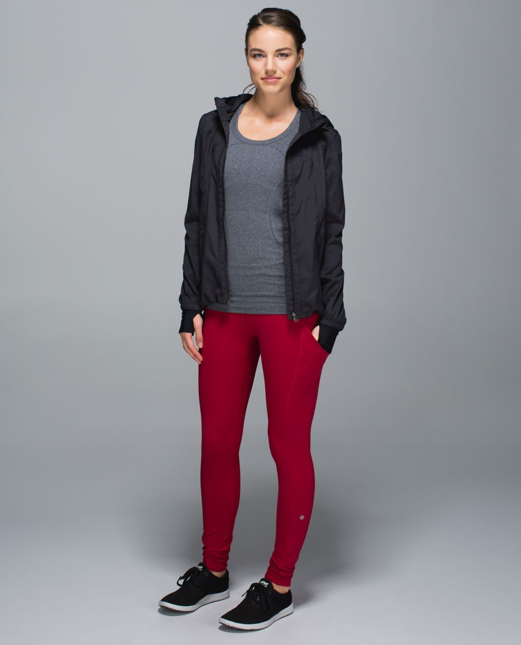 Lululemon Speed Tight II *Full-On Luxtreme (Brushed) - Deepest Cranberry / Wi14 Quilt 20