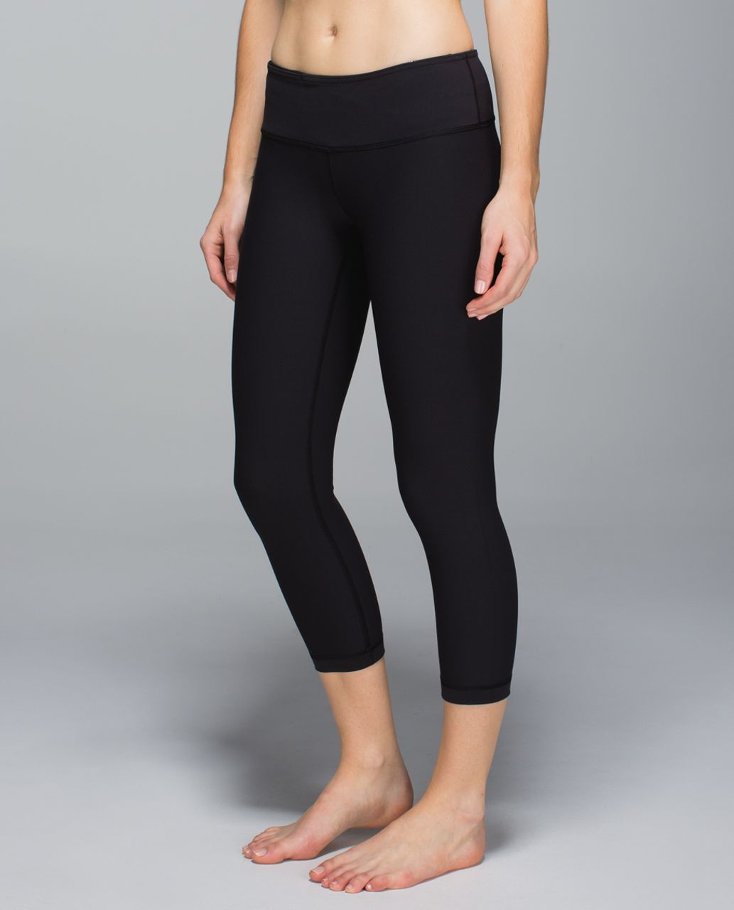 Lululemon Wunder Under Crop *Full-On Luon - Black / Wi14 Quilt 12
