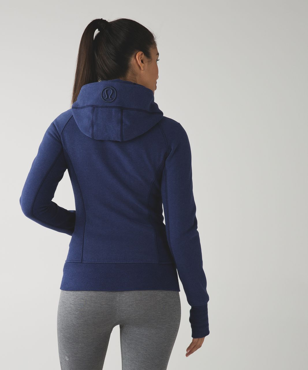 Lululemon Scuba Hoodie II - Heathered Denim Majestic / Black