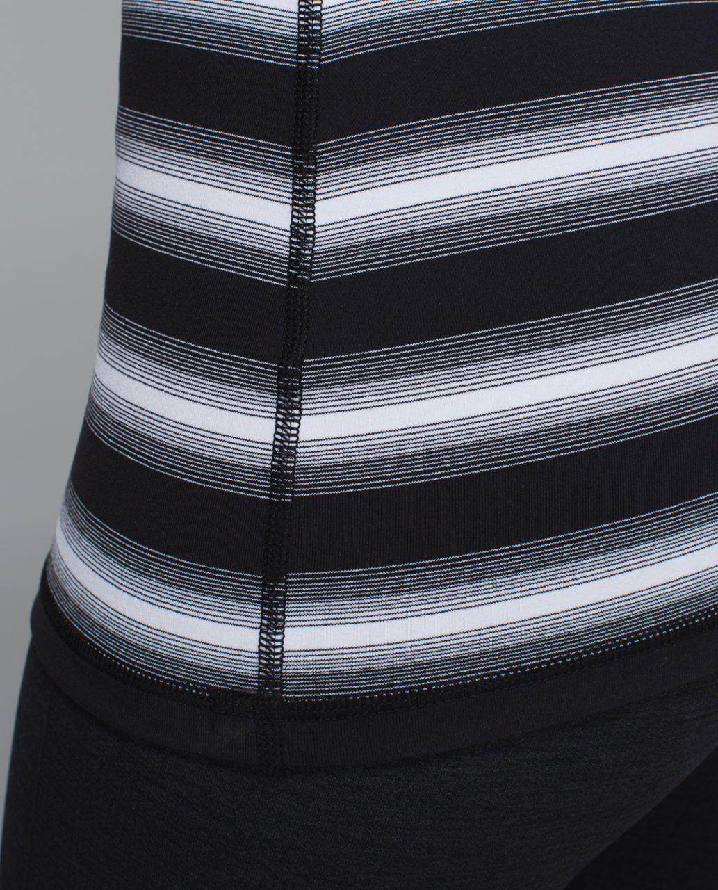Lululemon Power Y Tank *Luon - Capilano Stripe Black White