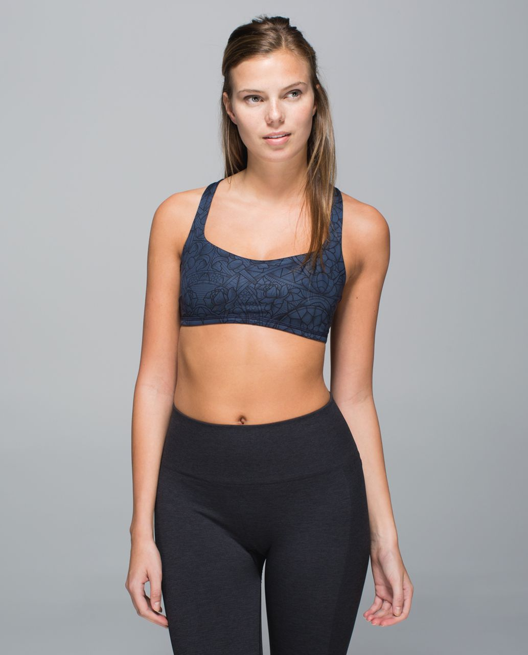 Lululemon Free To Be Bra - Prisma Inkwell Black
