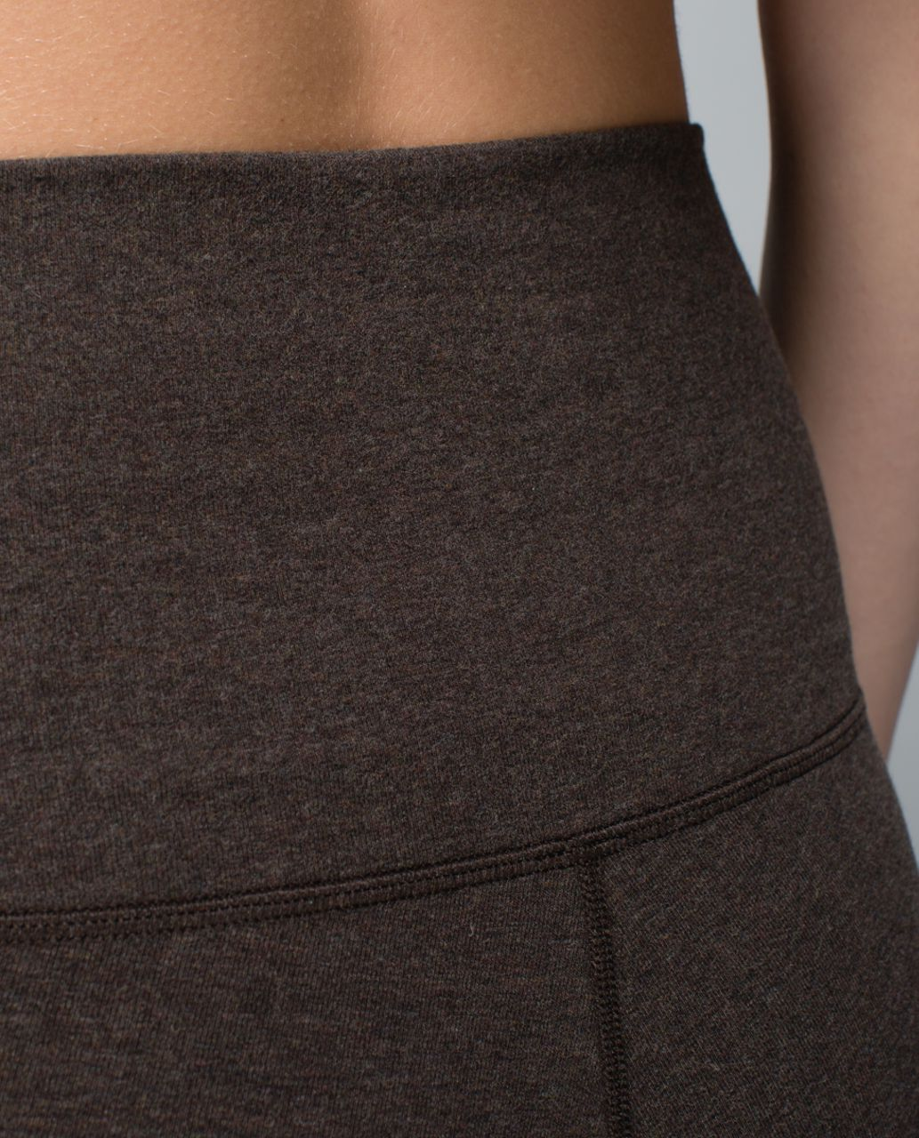 Lululemon Wunder Under Pant *Cotton (Roll Down) - Heathered Bark Chocolate