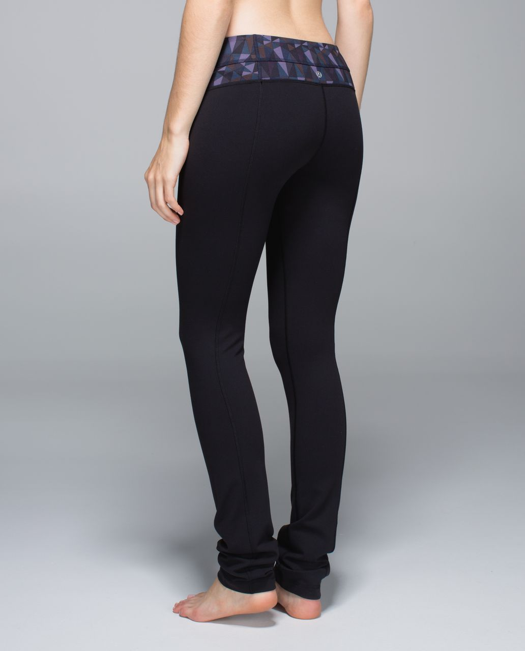 4d781afbc Lululemon Skinny Groove Pant  Full-On Luon - Black   Stained Glass Love  Nightfall Black - lulu fanatics