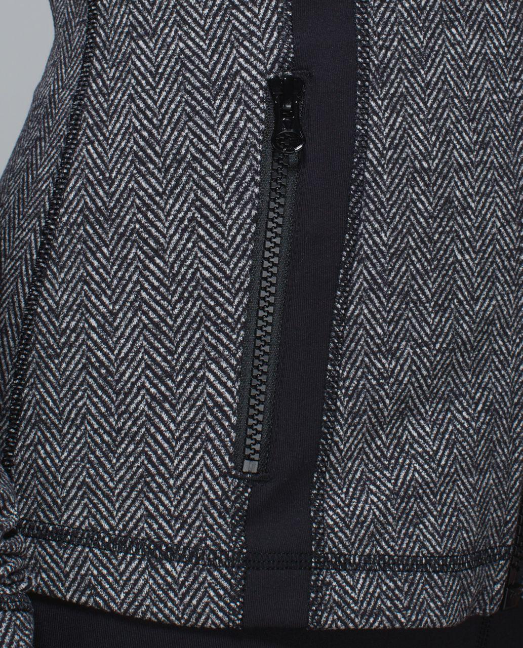 Lululemon Define Jacket - Giant Herringbone Black Heathered Black / Black