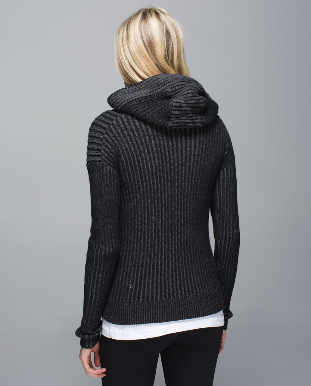 Lululemon Embrace Hoodie *Knit - Black / Heathered Dark Grey ...