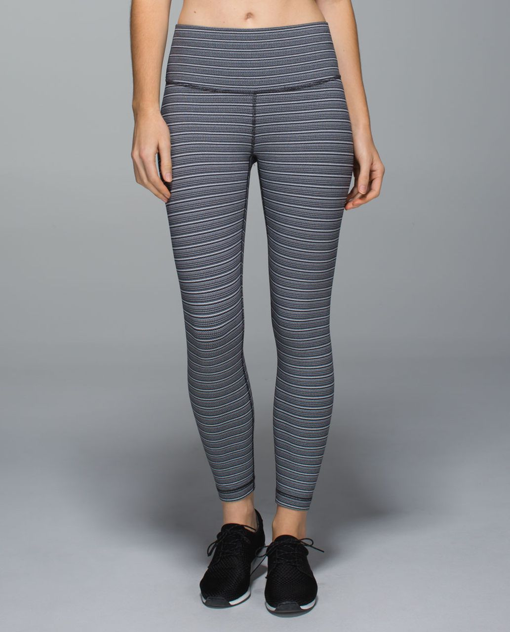 Lululemon High Times Pant - Textured Stripe Black Deep Coal