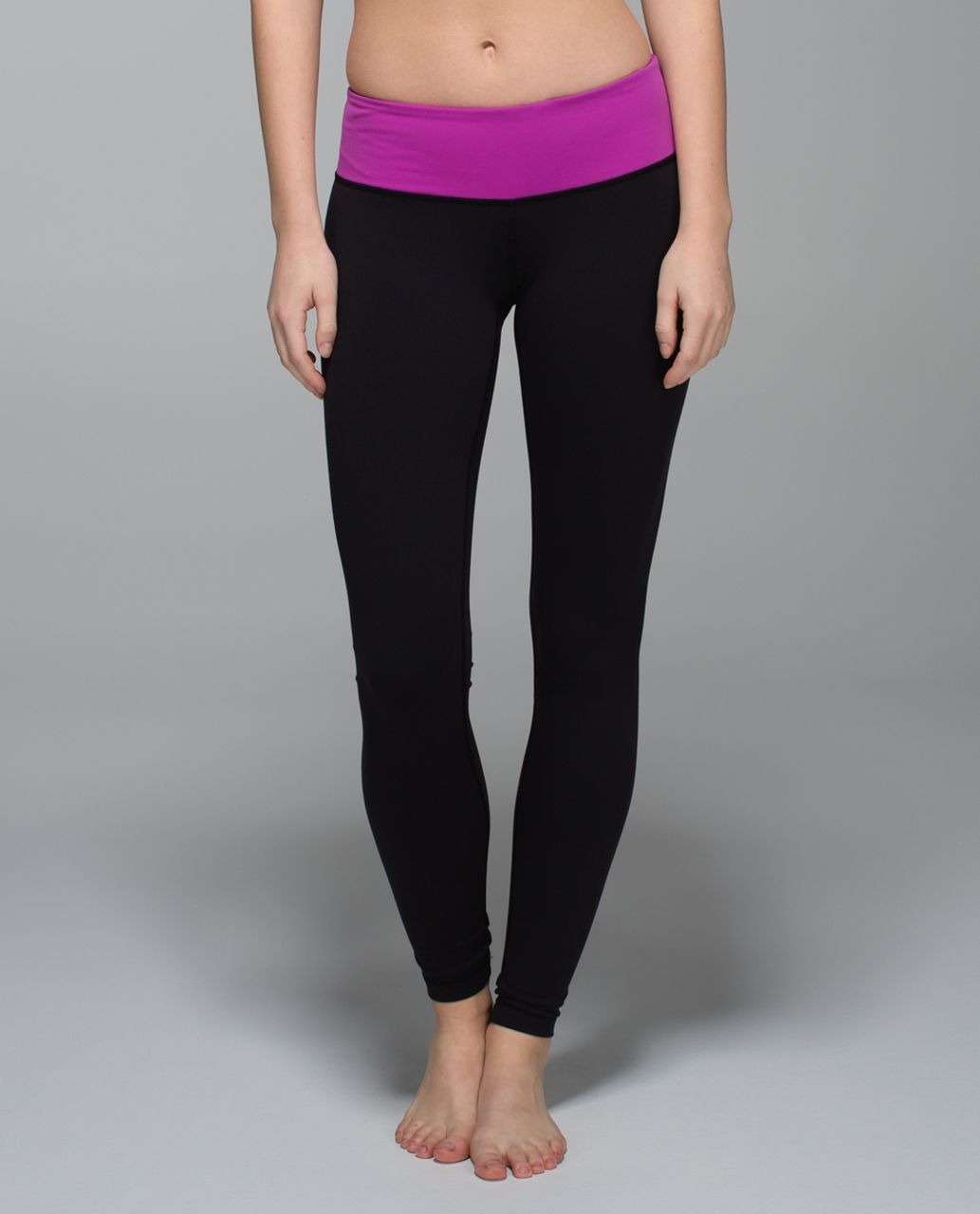 Lululemon Wunder Under Pant *Full-On Luon - Black /  Ultra Violet