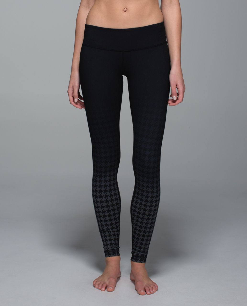 Lululemon Wunder Under Pant *Full-On Luon - Giant Houndstooth Dip Dye Deep Coal Light Black