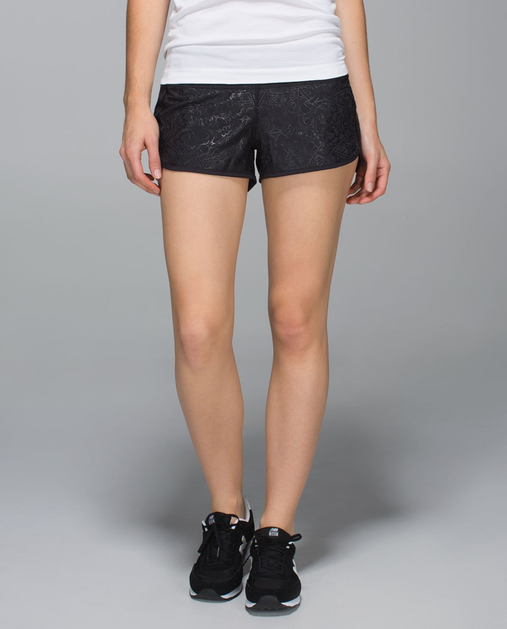 Lululemon Run:  Speed Short *2-way Stretch - Black / Black / Black