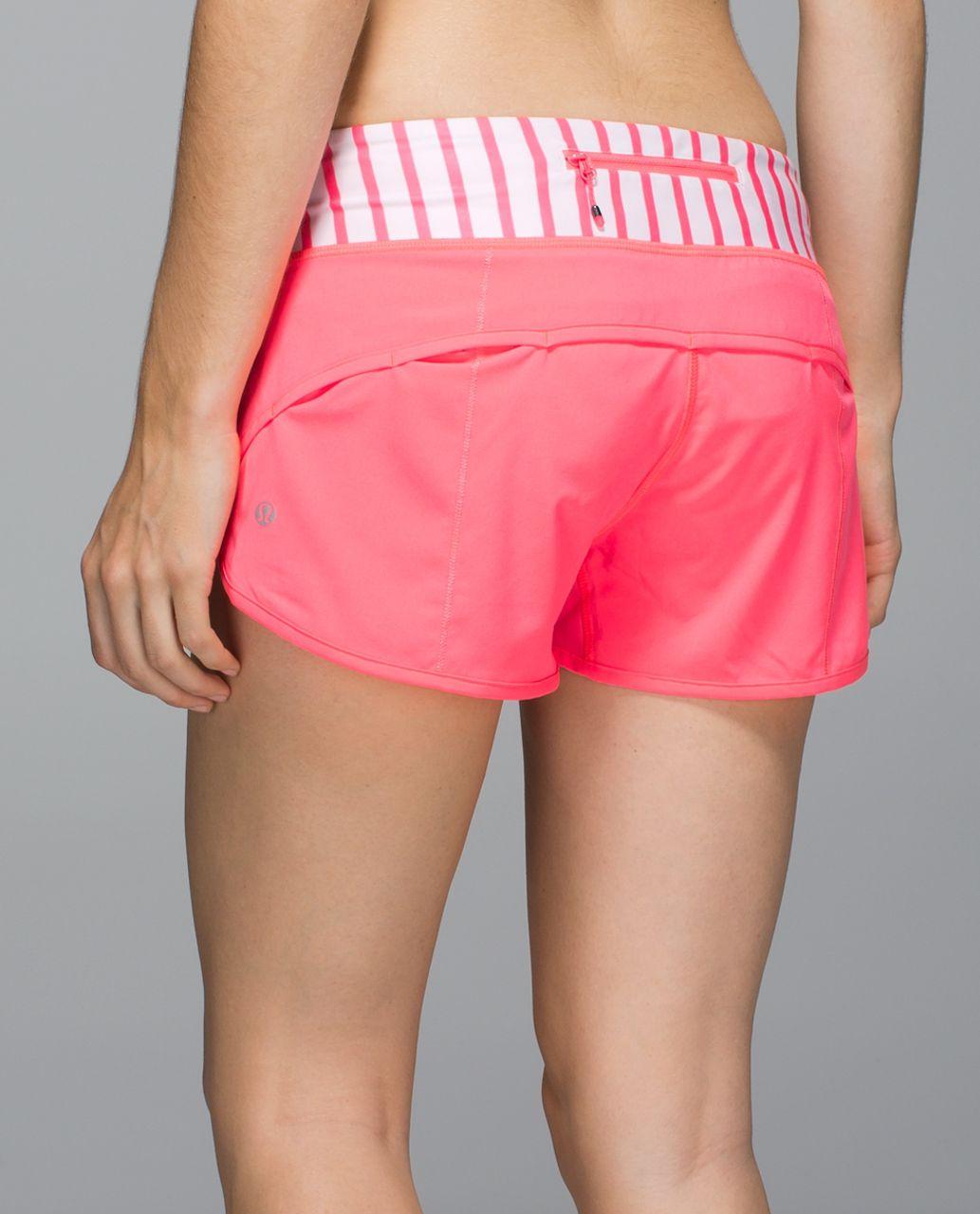 Lululemon Run:  Speed Short *4-way Stretch - Flash Light / Yachtie Stripe Printed White Flash Light