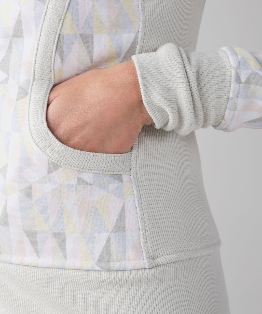Lululemon Scuba Hoodie II - Stained Glass Love White Neutral Blush / Whisper Pink / Nimbus