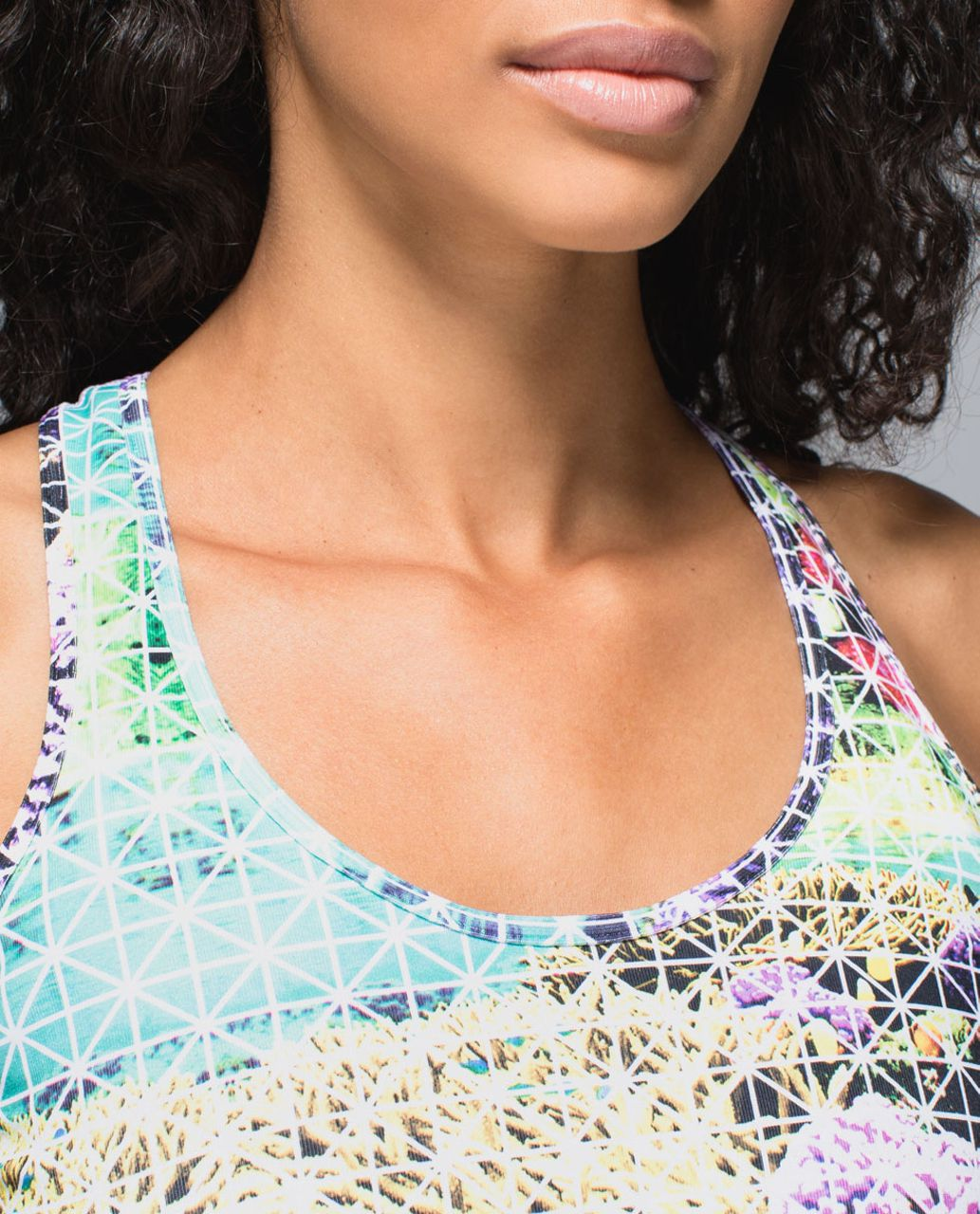Lululemon Cool Racerback - Paradise Grid Very Green Multi