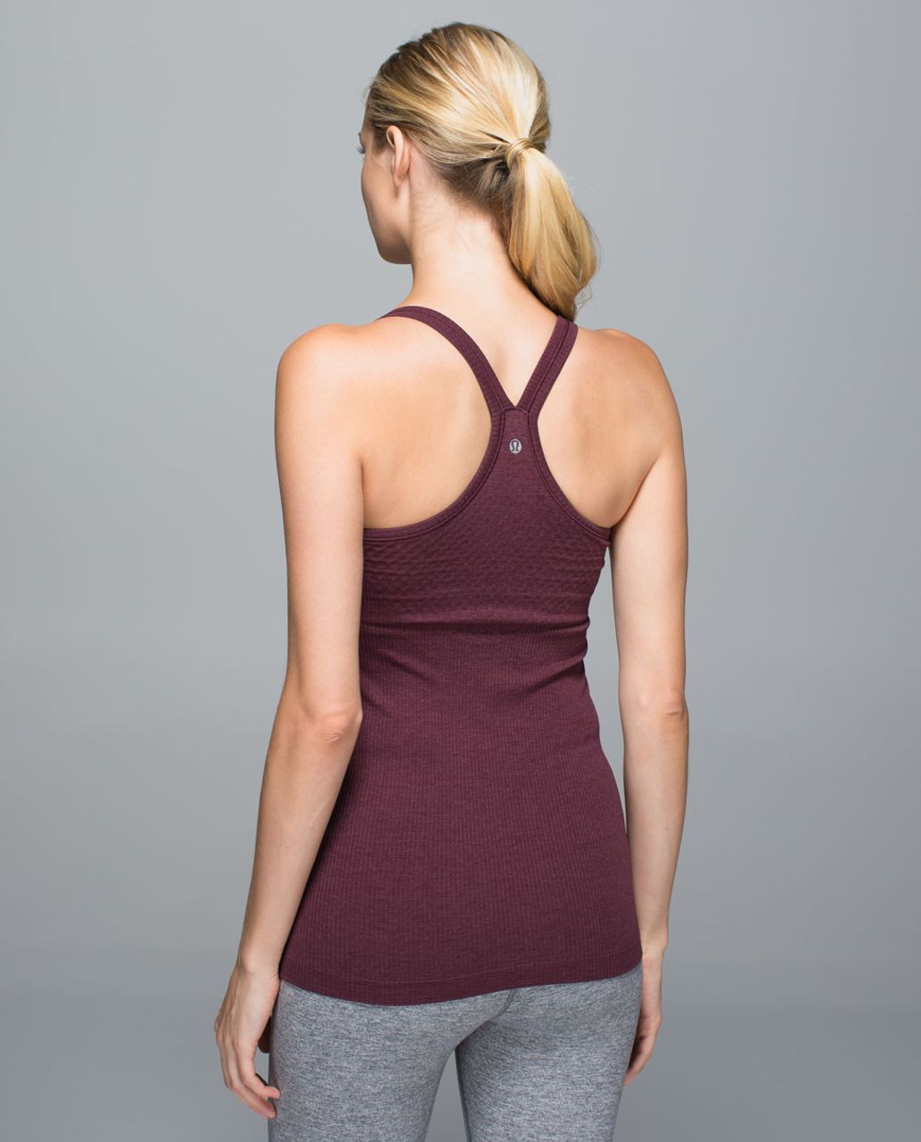 Lululemon Ebb To Street Tank (First Release) - Heathered Bordeaux Drama