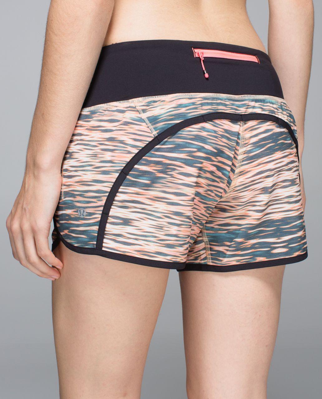 Lululemon Run Times Short *4-way Stretch - Tiger Water Multi / Black