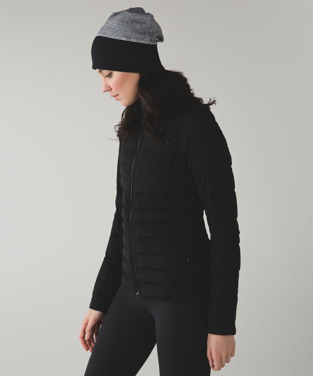 Lululemon Run With Me Toque - Mini Check Pique White Heathered Black / Black