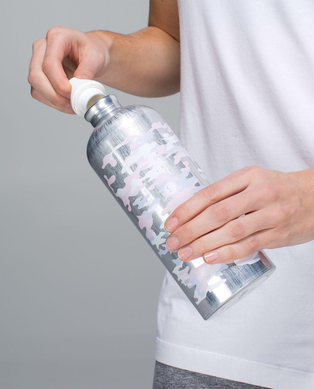 Lululemon Sigg 1L Water Bottle - Hide And Seek Camo Neutral Blush Early Blue