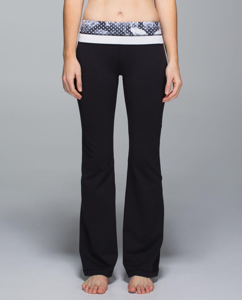 Lululemon Groove Pant *Full-On Luon (Regular) - Black / Dottie Dream Rose Neutral Blush Black / White