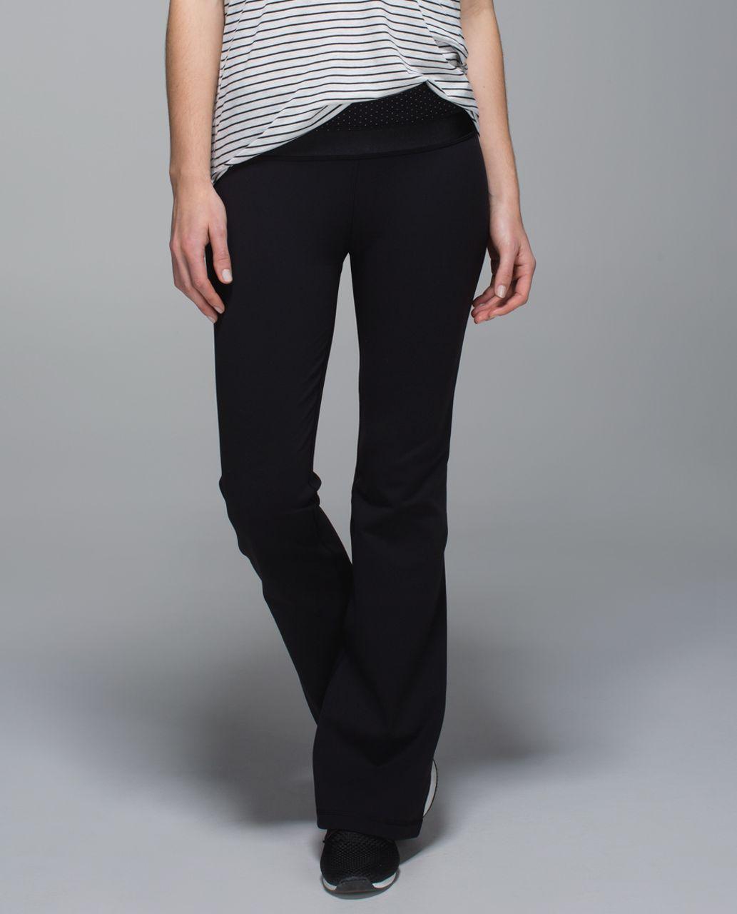 Lululemon Groove Pant *Full-On Luon (Regular) - Black / Teeny Dot Black White