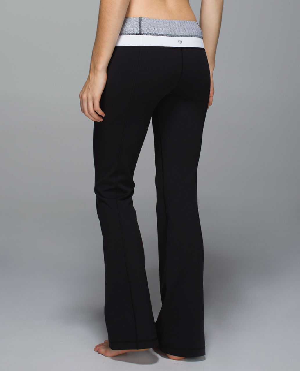 Lululemon Groove Pant *Full-On Luon (Tall) - Black / Heathered Herringbone Black Heathered Black / White
