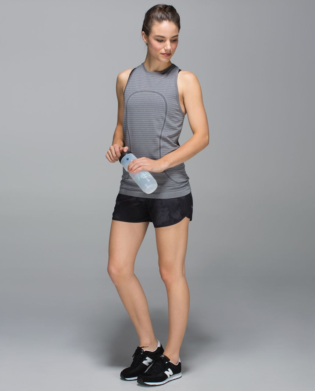 Lululemon Run Times Short *4-way Stretch - Dream Rose Deep Coal Black / Black