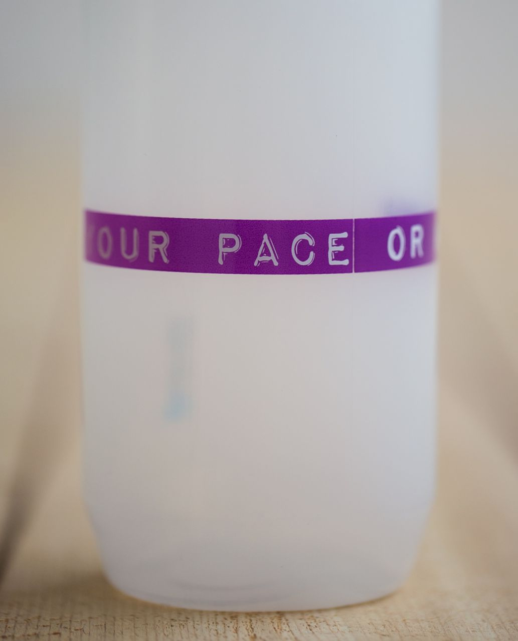 Lululemon Purist Cycling Water Bottle - Your Pace Or Mine Guava Lava Ultra Violet