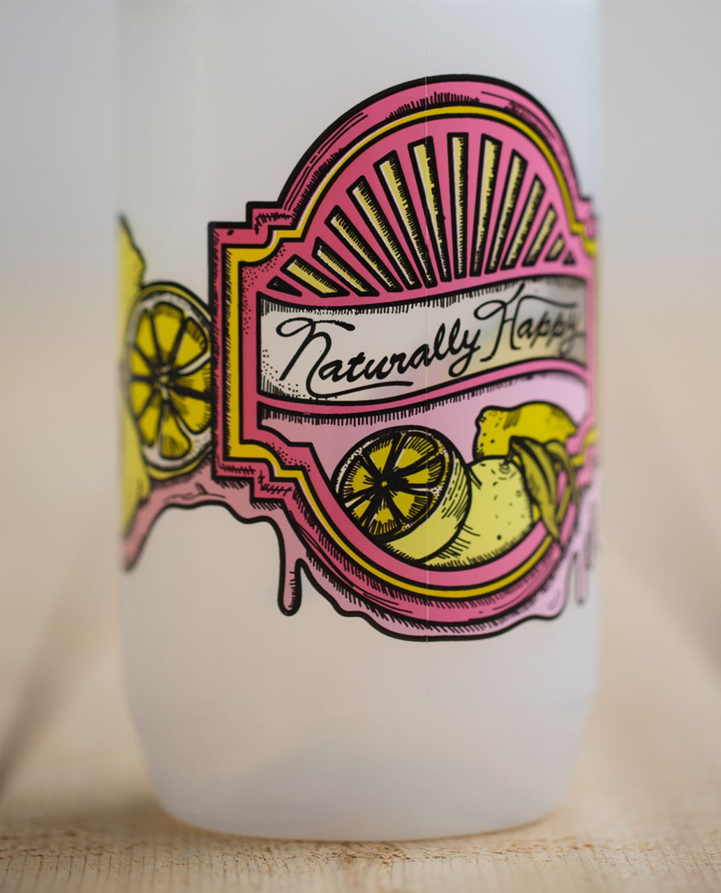 Lululemon Purist Cycling Water Bottle - Naturally Happy Rose Bud Guava Lava