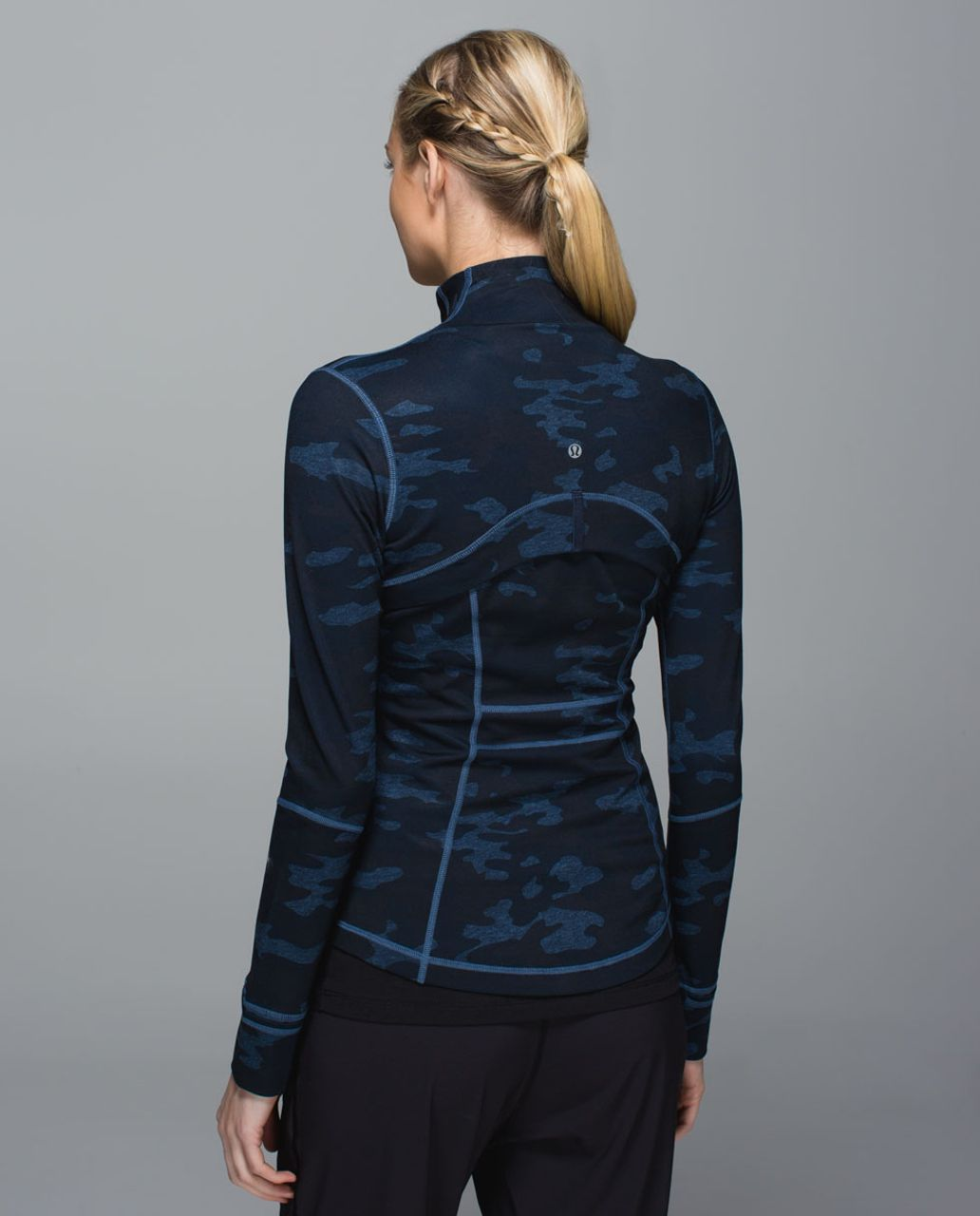 Lululemon Define Jacket - Heathered Texture Lotus Camo Oil Slick Blue