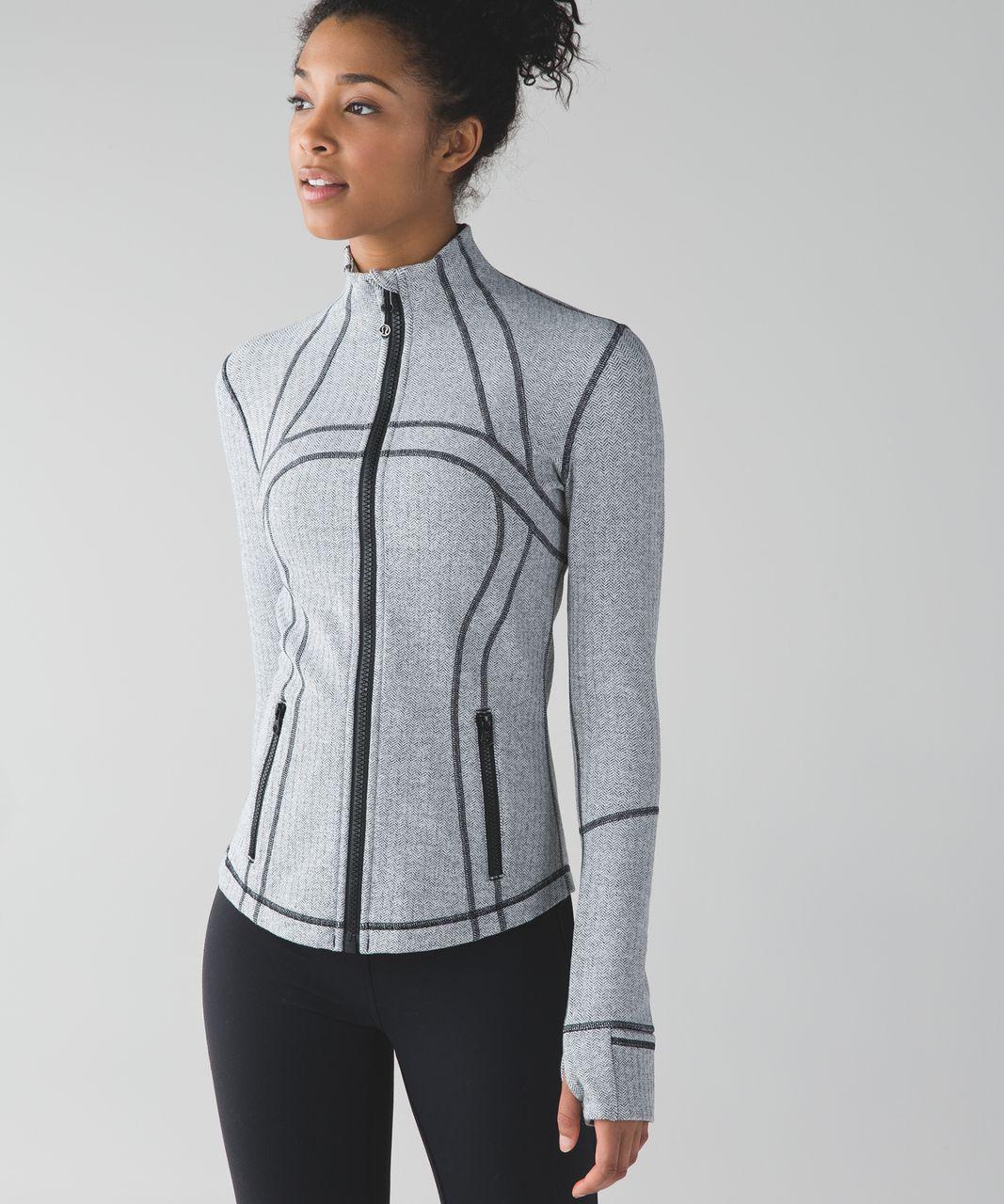 Lululemon Define Jacket - Heathered Herringbone Heathered Black White