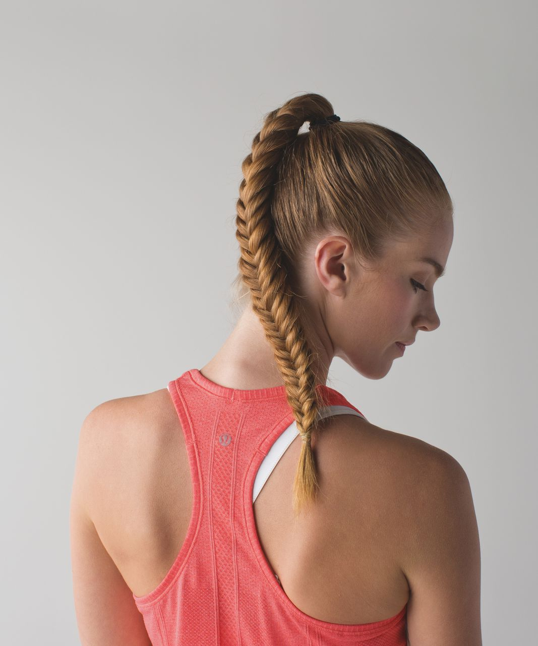 Lululemon Run:  Swiftly Tech Racerback - Heathered Atomic Red