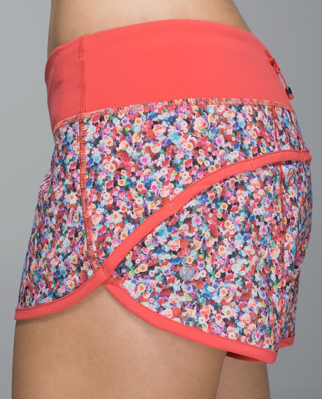 Lululemon Run:  Speed Short *4-way Stretch - Prism Petal Multi / Atomic Red