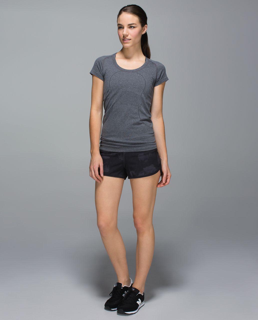 Lululemon Run:  Speed Short *4-way Stretch - Dream Rose Deep Coal Black / Black
