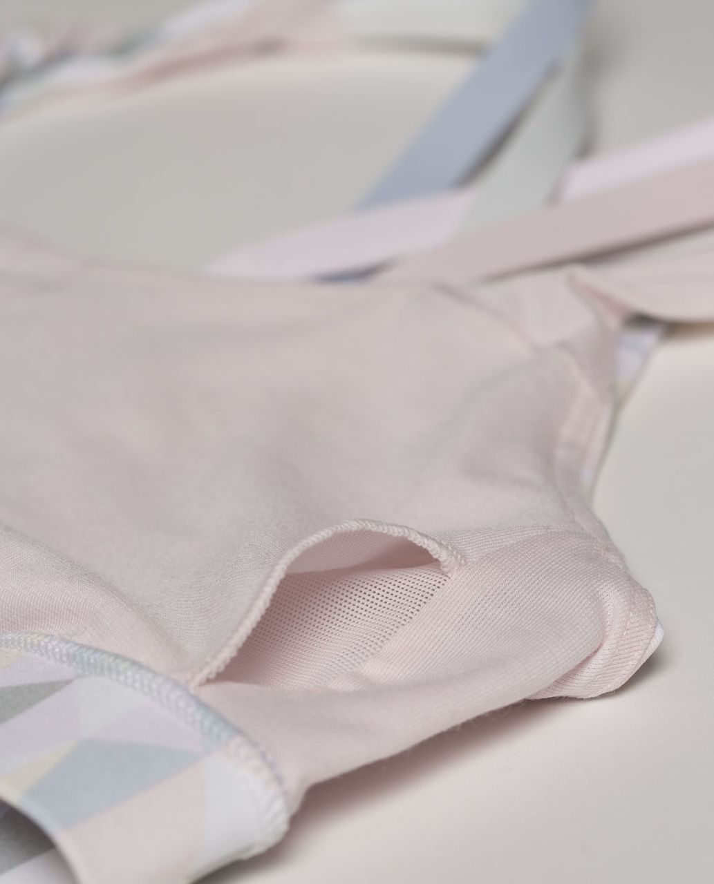 Lululemon Energy Bra - Stained Glass Love White Neutral Blush / Early Blue / Whisper Pink