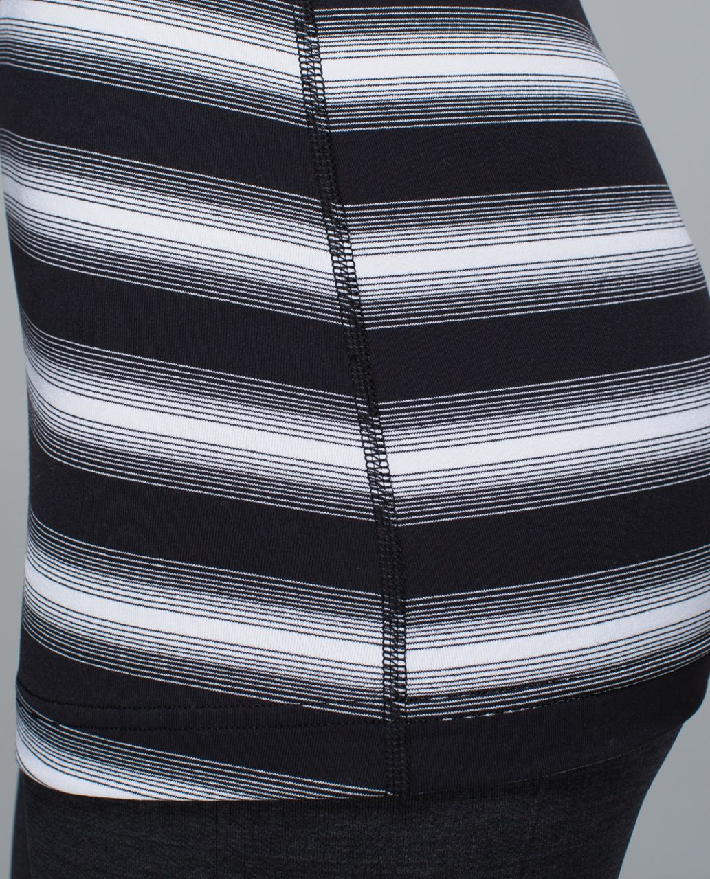 Lululemon Cool Racerback - Capilano Stripe Black White