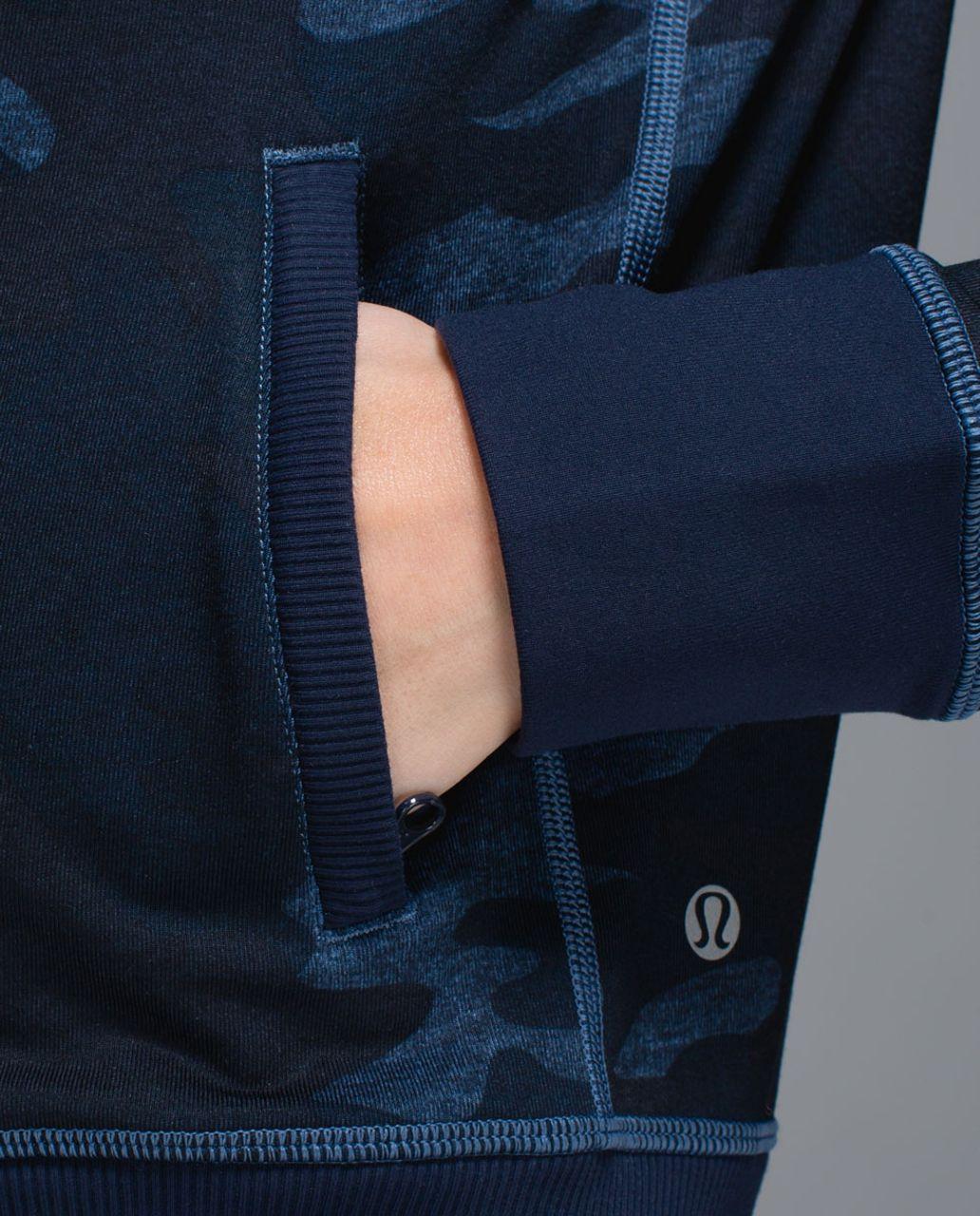Lululemon Namaskar Hoodie - Heathered Texture Lotus Camo Oil Slick Blue / Inkwell