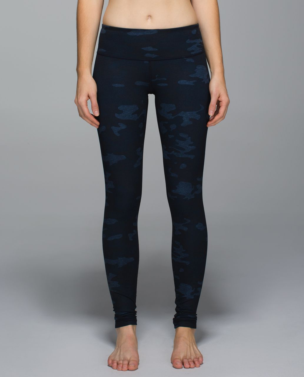 Lululemon Wunder Under Pant *Full-On Luon - Heathered Texture Lotus Camo Oil Slick Blue