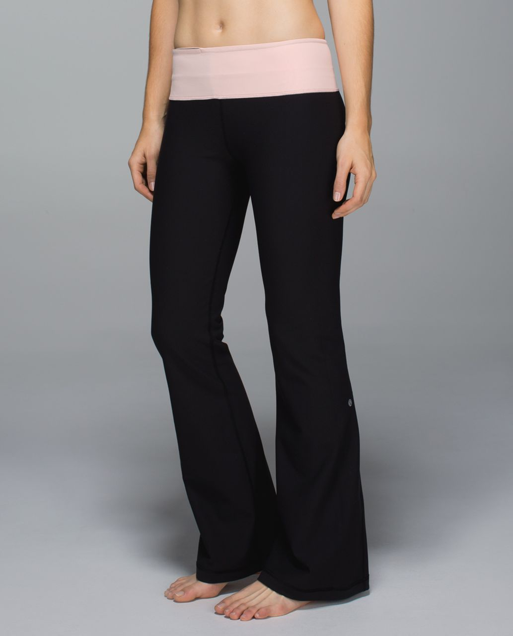 Lululemon Groove Pant *Full-On Luon (Regular) (First Release) - Black / Parfait Pink / Speckle Dot Parfait Pink Black
