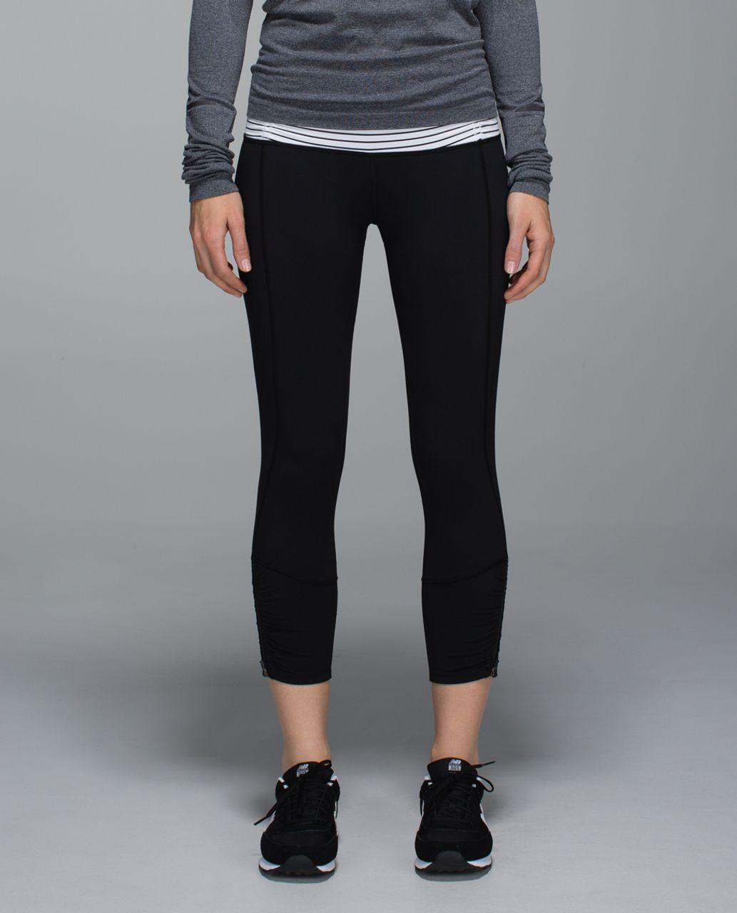 4960e12792 Lululemon Runday Crop - Black / Parallel Stripe White Black - lulu fanatics