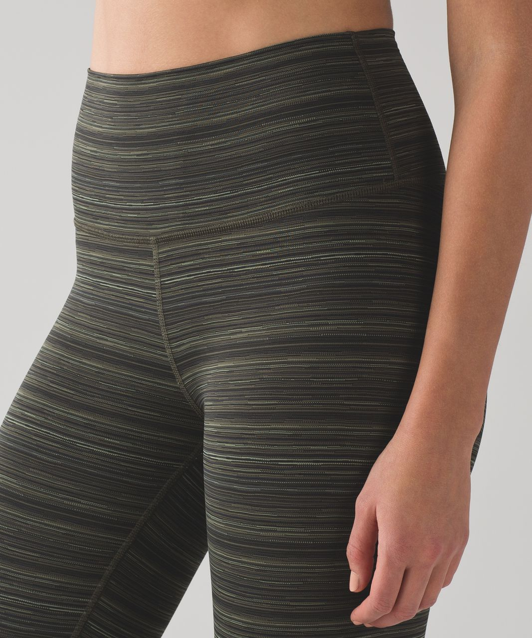 Lululemon High Times Pant (Luxtreme) - Cyber Stripe Gator Green Black