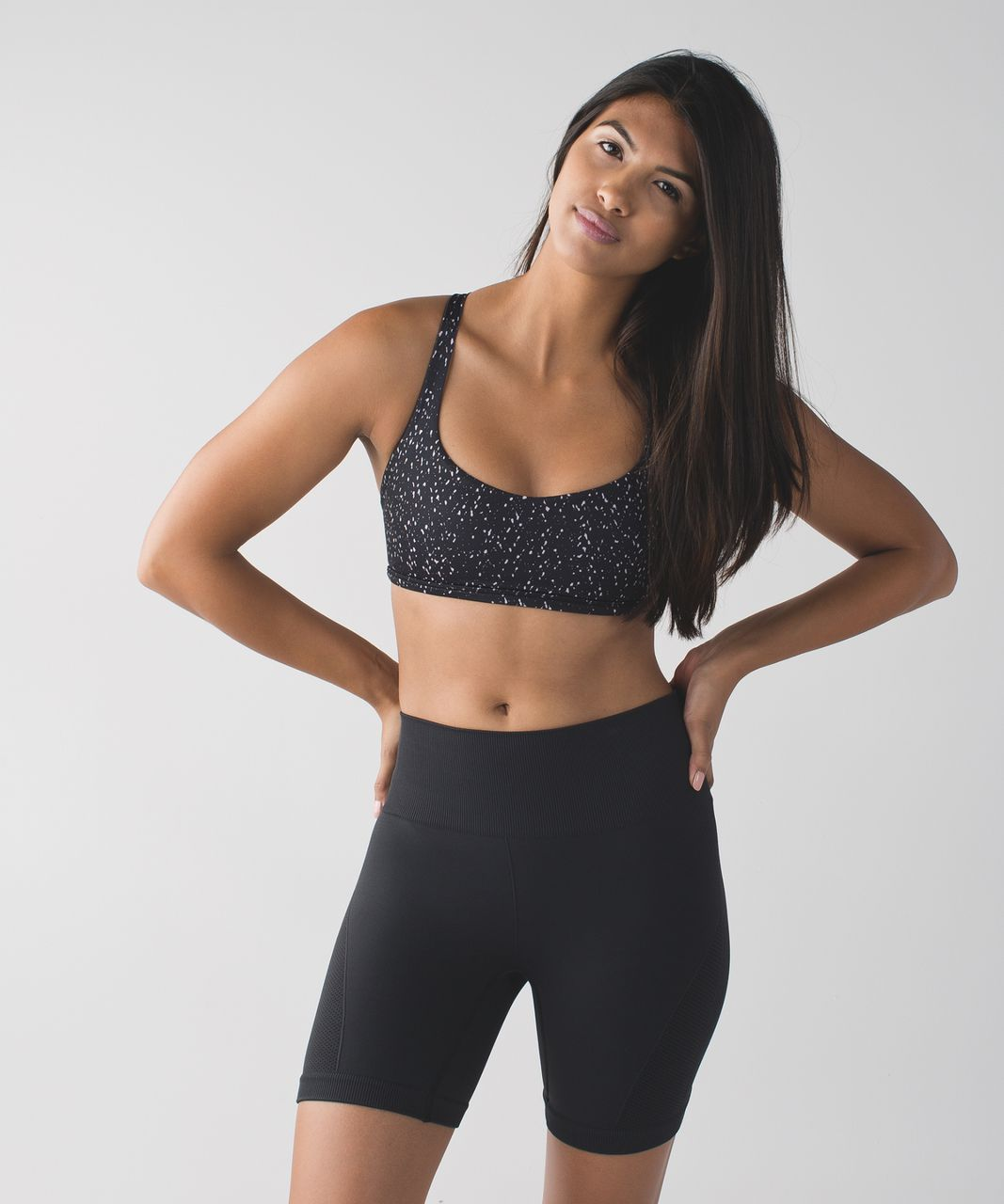 Lululemon Free To Be Bra (Wild) - Butterfly Texture Black White / Flash Light
