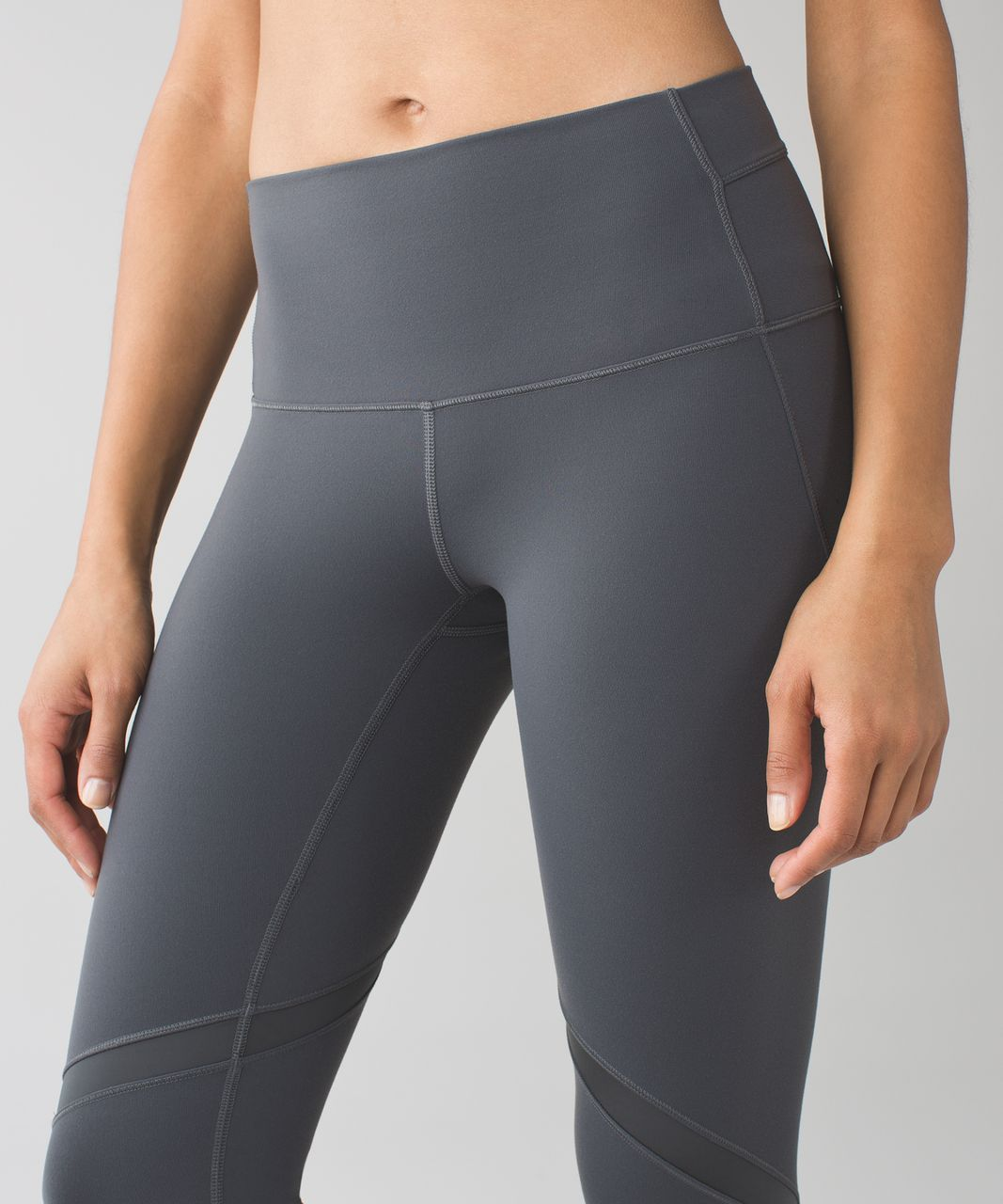 "Lululemon Wunder Under Crop (Hi-Rise) (Shine On 21"") - Dark Slate"